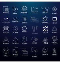 Minimal vintage logos and badges big collection vector image vector image