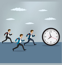 race against time vector image