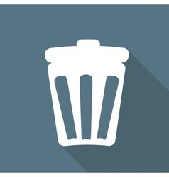 Recycle sign web icon vector image