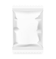 white food snack paper pillow bag vector image vector image