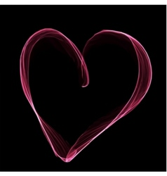 Abstract pink heart on black background vector