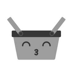 kawaii picnic basket vector image