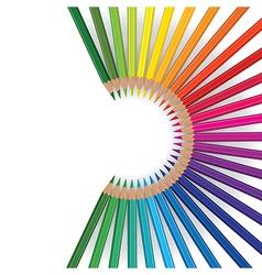 pencils round vector image vector image