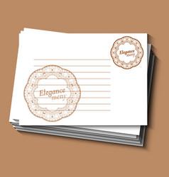 Restaurant or cafe menu card for waiter vintage vector
