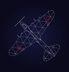 retro airplane design vector image