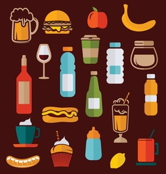 simple food icons2 vector image