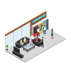 vending machines composition vector image