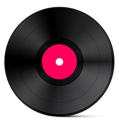 Vinyl Record Isolated on White Background vector image vector image