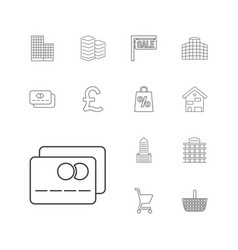 13 retail icons vector