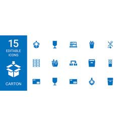 15 carton icons vector image