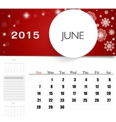 2015 calendar monthly calendar template for june vector