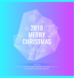 2018 merry christmas and happy new year abstract vector image