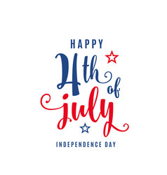 4th of july celebration holiday banner usa vector image