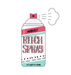 90s bitch spray comic funny vector