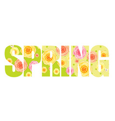 abstract flower spring background vector image