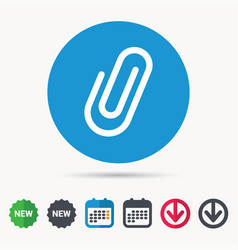 Attachment icon paper clip sign vector