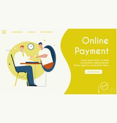 banner online payment vector image