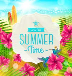 Banner with summer greeting vector