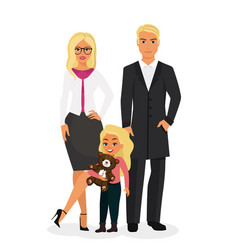 beautiful happy family with vector image