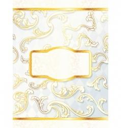 beautiful vertical rococo wedding label vector image