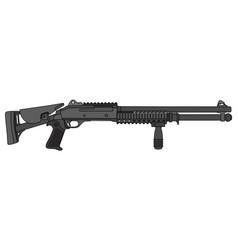 Black pump shotgun vector