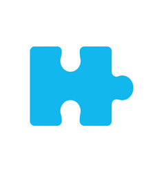 blue piece puzzle mental game vector image