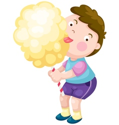 Boy with candy floss vector