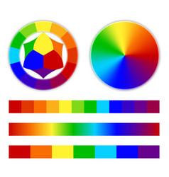 Bright rainbow gradient vector