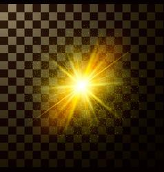 Brilliant star shining design magical light vector