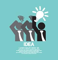 Businessman Holding A Light Bulb Idea Concept vector image