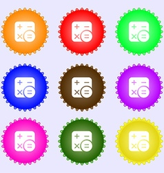 Calculator icon sign big set of colorful diverse vector