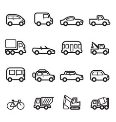 Car icons collection set vector
