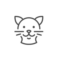 cat line icon vector image