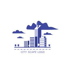 city scape logo vector image