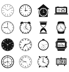 Clocks set vector image
