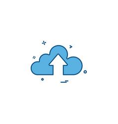 cloud up icon arrow vector image