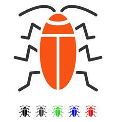 Cockroach flat icon vector