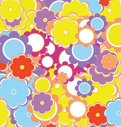Colorful Valentine s Background with Flowers vector