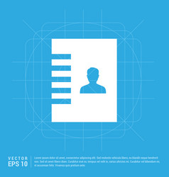contact list icon vector image