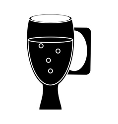 cup glass refreshment cold liquid pictogram vector image