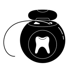 Dental floss icon simple style vector