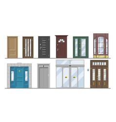 Doors doorway front entrance lift entry or vector