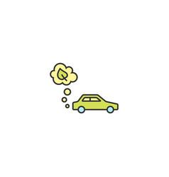 Electric eco car conceptual icon vector
