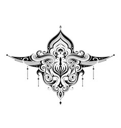 Elegant henna tattoo ornament vector