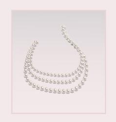 Elegant pearl necklace vector