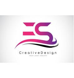 Es e s letter logo design creative icon modern vector