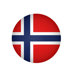flag of norway brush painted flag of norway hand vector image