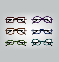 Flat glasses vector