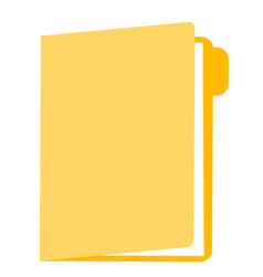 folder with documents cartoon vector image