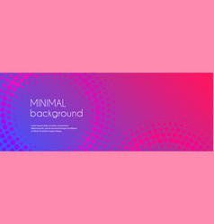 gradient colorful long banner abstract minimal vector image